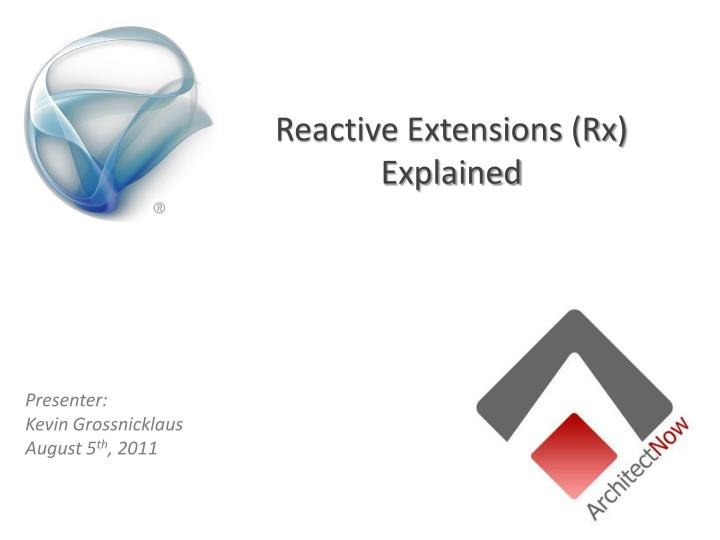 reactive extensions rx explained n.