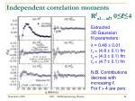 independent correlation moments r l 1 l 0 l 4