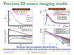 previous 1d s ource imaging results