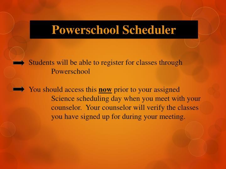 Powerschool Scheduler