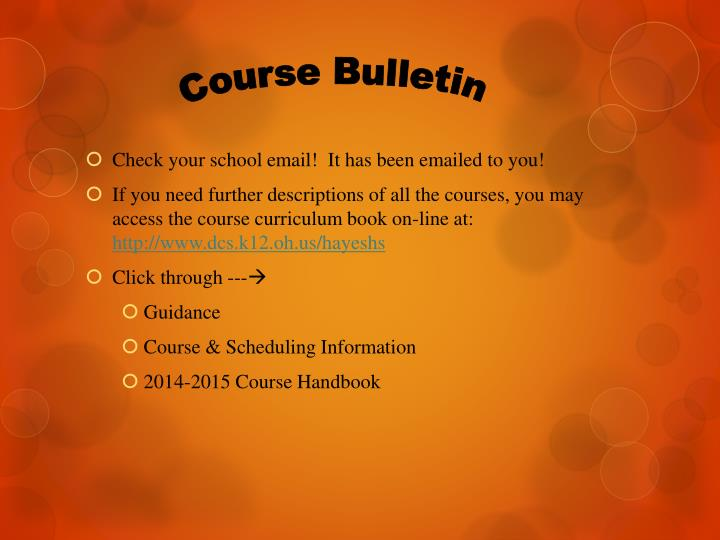 Course Bulletin