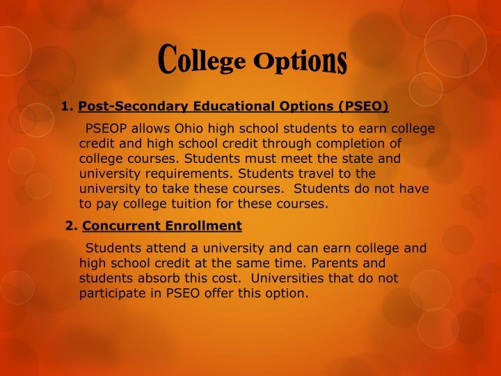 College Options