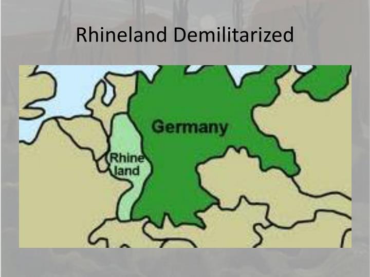 Rhineland Demilitarized