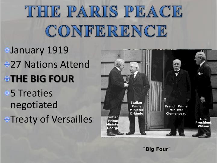 THE PARIS PEACE