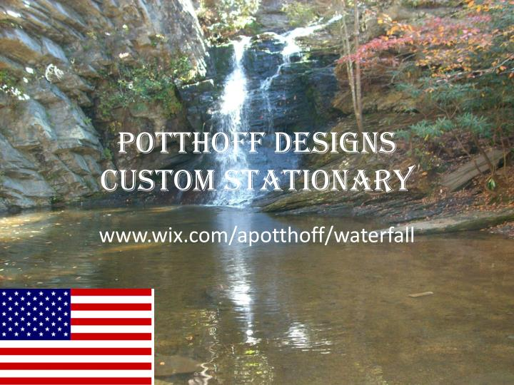Potthoff designs custom stationary