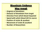 bloodstain evidence may reveal