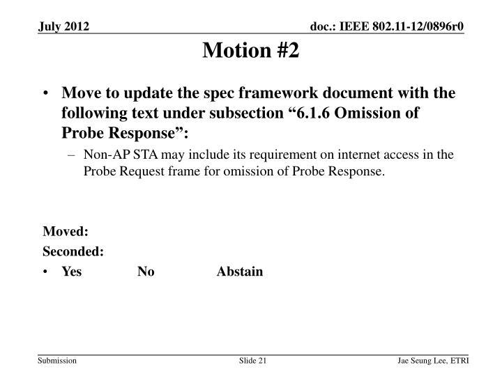 Motion #2