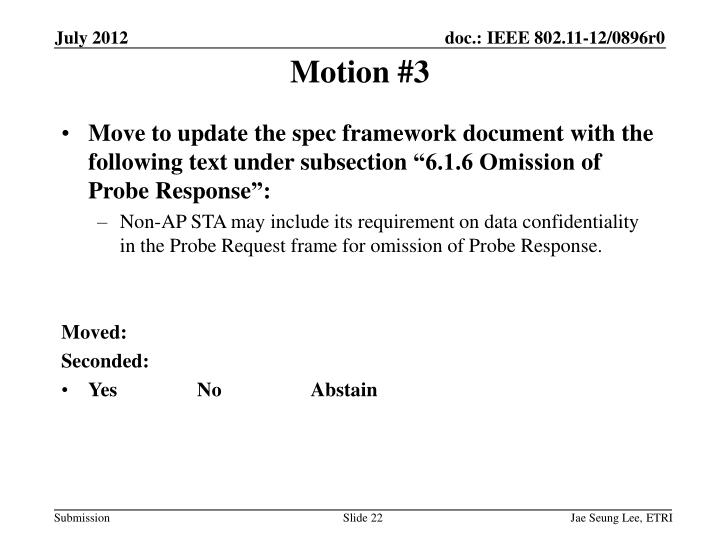 Motion #3