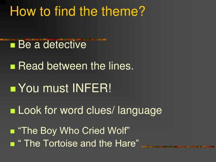How to find the theme