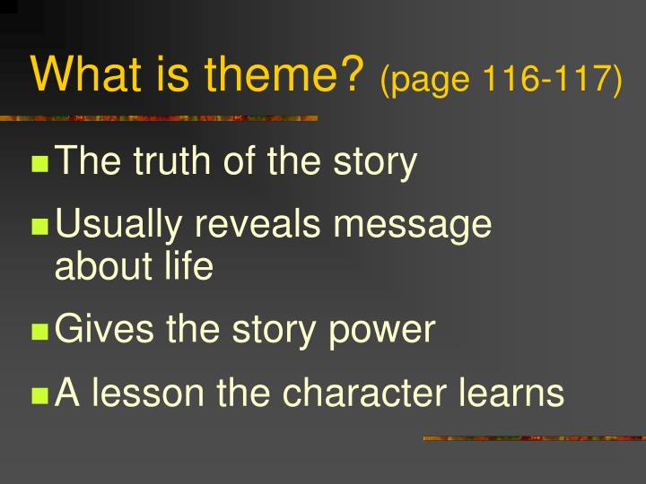 What is theme page 116 117