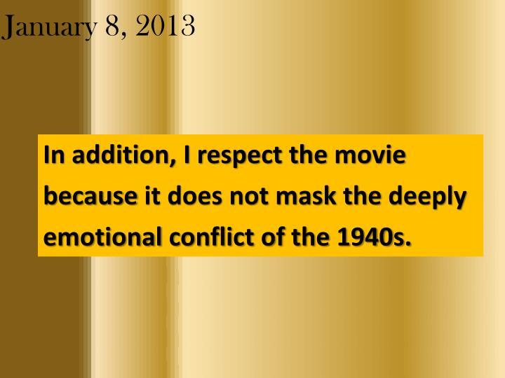 January 8 20132