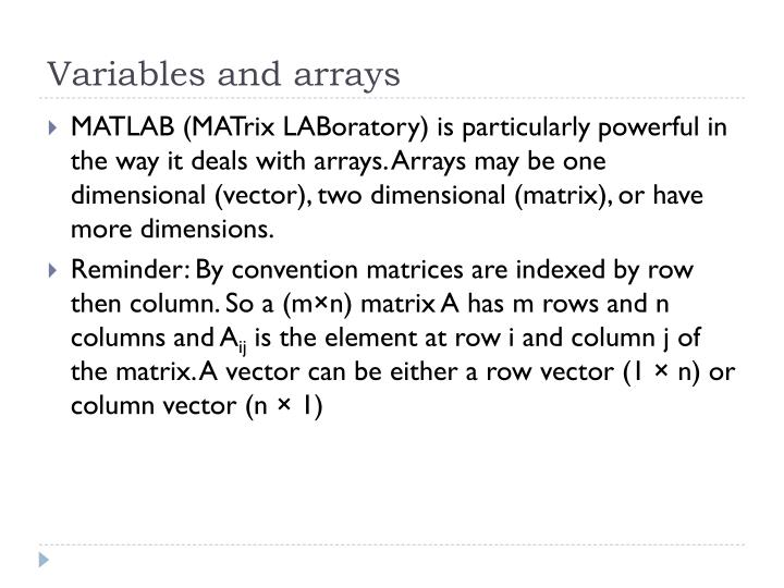 Variables and arrays2