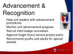advancement recognition