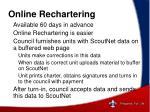 online rechartering