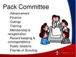 pack committee