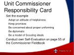 unit commissioner responsibility card5