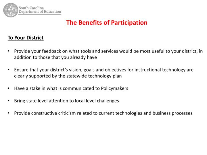 The Benefits of Participation