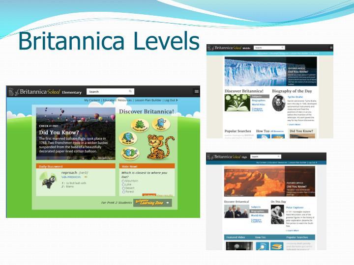 Britannica Levels