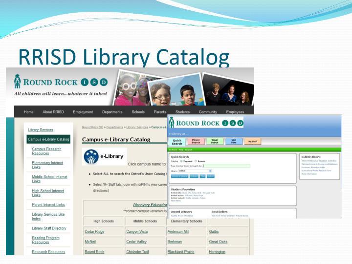Rrisd library catalog