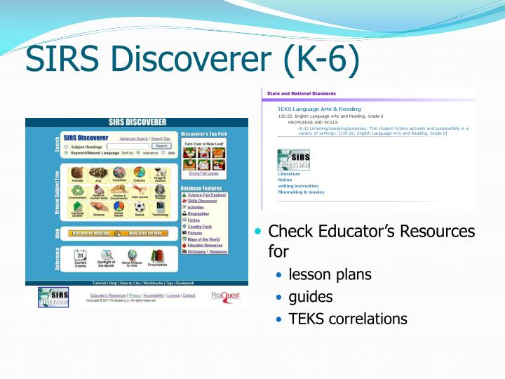 SIRS Discoverer (K-6)