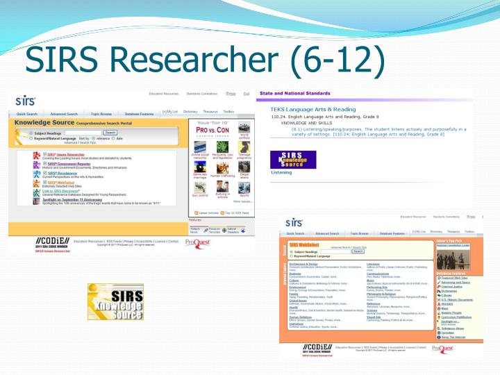 SIRS Researcher (6-12)