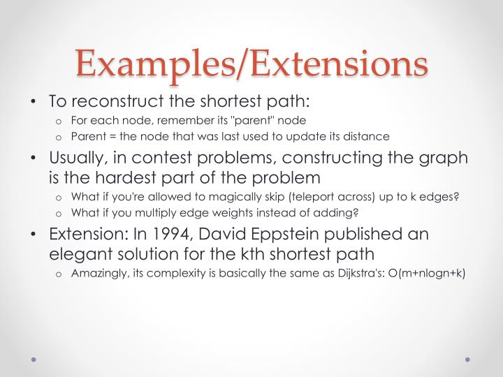 Examples/Extensions