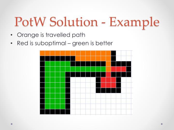 Potw solution example