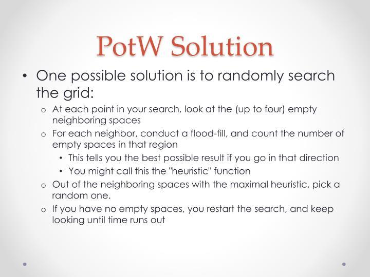 Potw solution