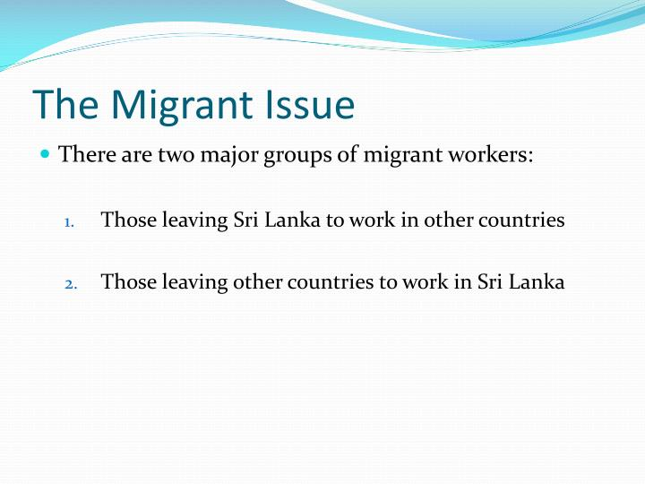 The migrant issue1