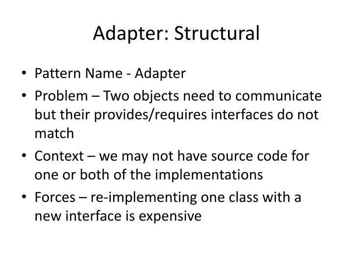 Adapter: Structural