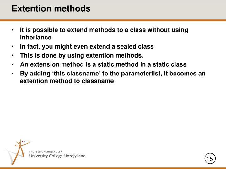 Extention methods
