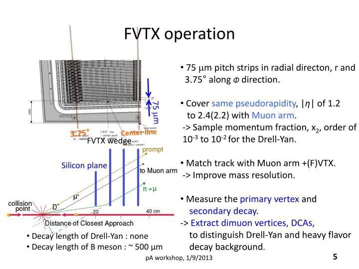 FVTX operation