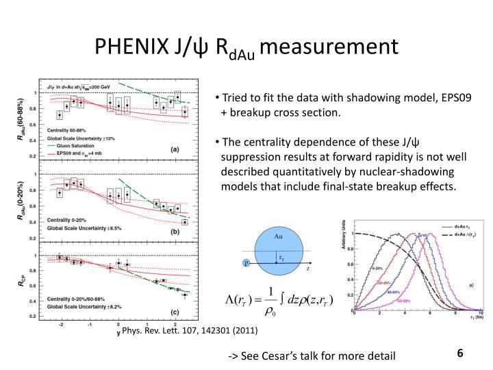 PHENIX J/ψ