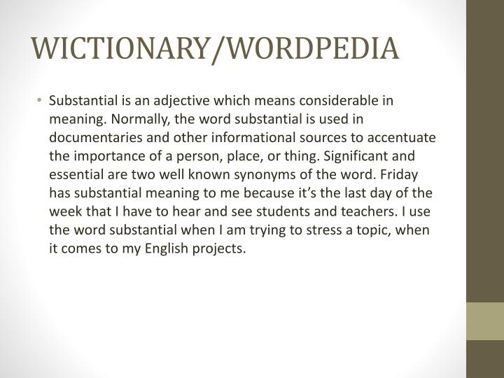 Wictionary wordpedia