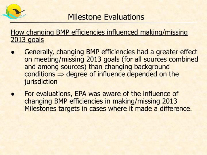 Milestone evaluations1