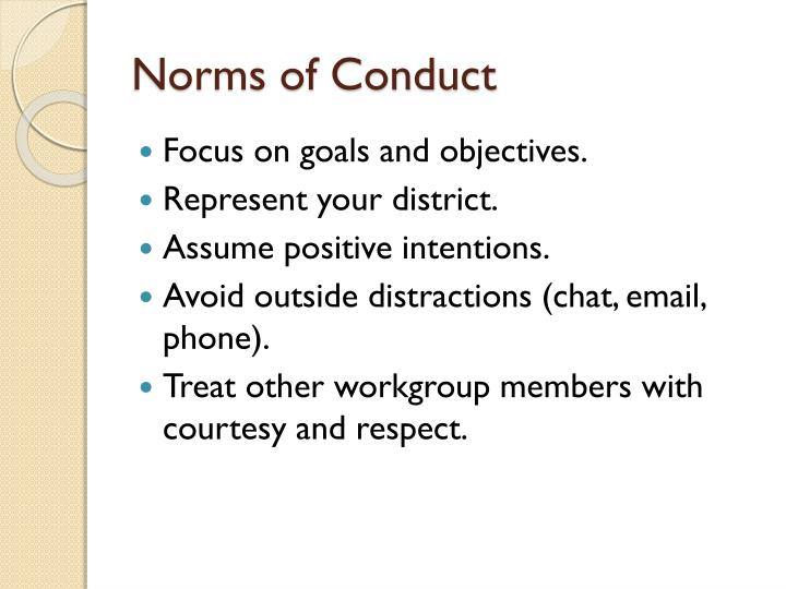 Norms of conduct