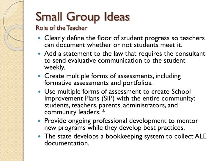 Small Group Ideas