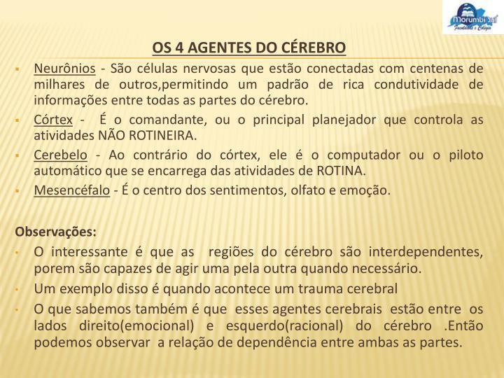 OS 4 AGENTES DO CÉREBRO