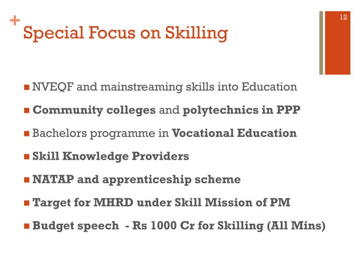 Special Focus on Skilling