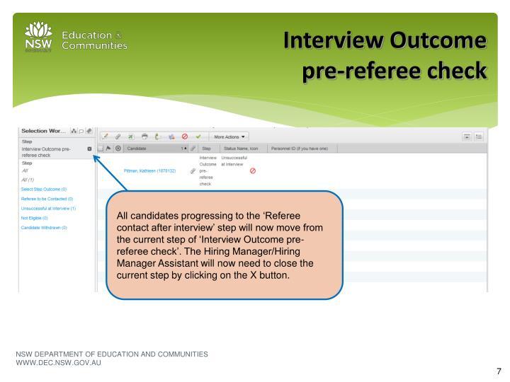 Interview Outcome