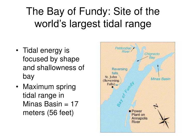 The Bay of Fundy: Site of the world's largest tidal range