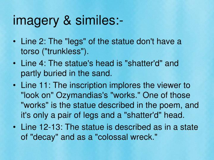 imagery & similes:-