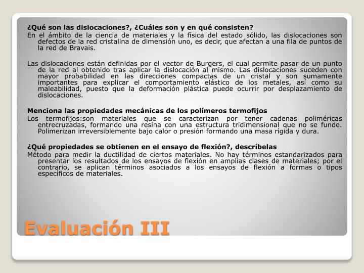 Ppt Evaluación Iii Powerpoint Presentation Free Download