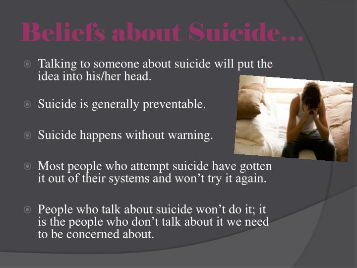 Beliefs about Suicide…