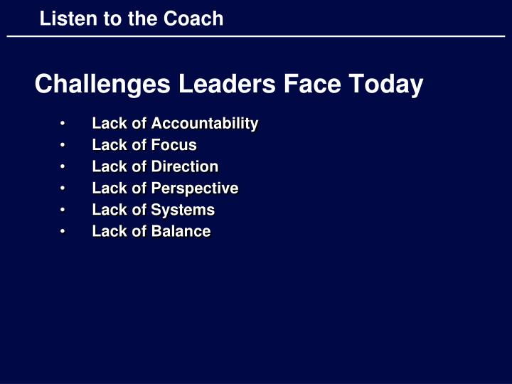 Challenges Leaders Face Today