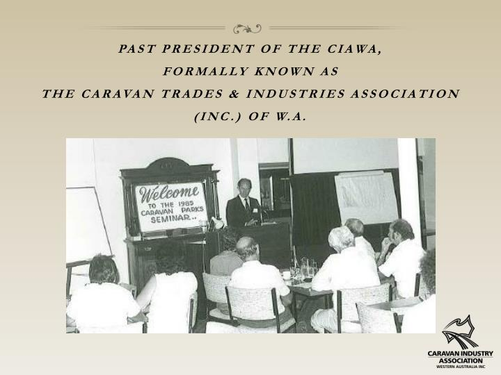 Past president of the ciawa