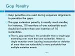 gap penalty