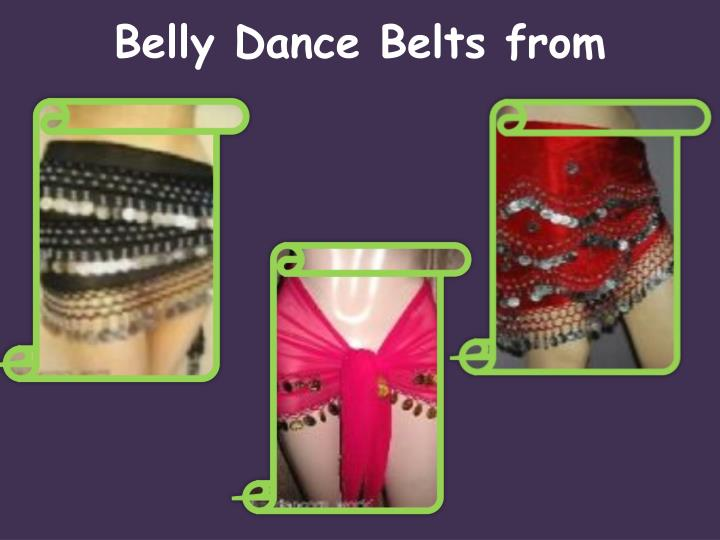 Belly dance belts from