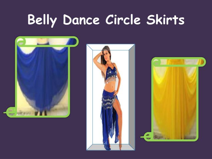 Belly dance circle skirts