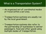 what is a transportation system